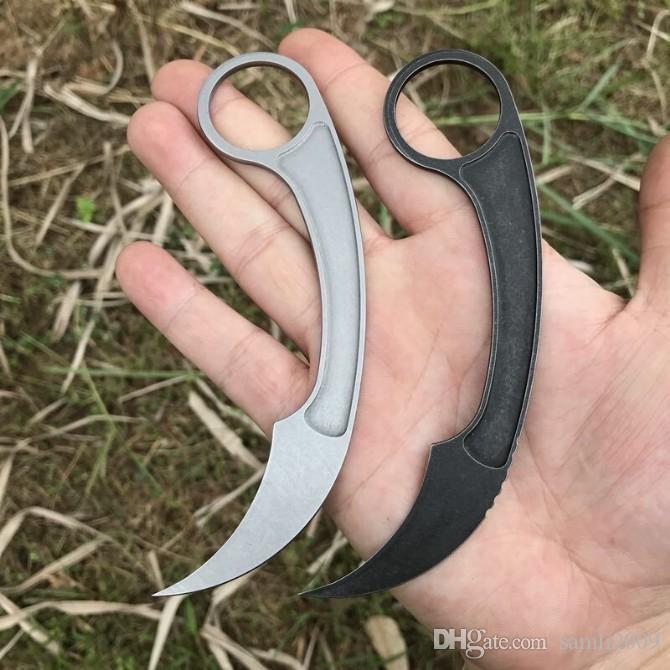 High quality New Arrival Tactical Knives 440C Stone Wash Blade Full Tang Steel Handle Fixed Blade Paper cutter Knife