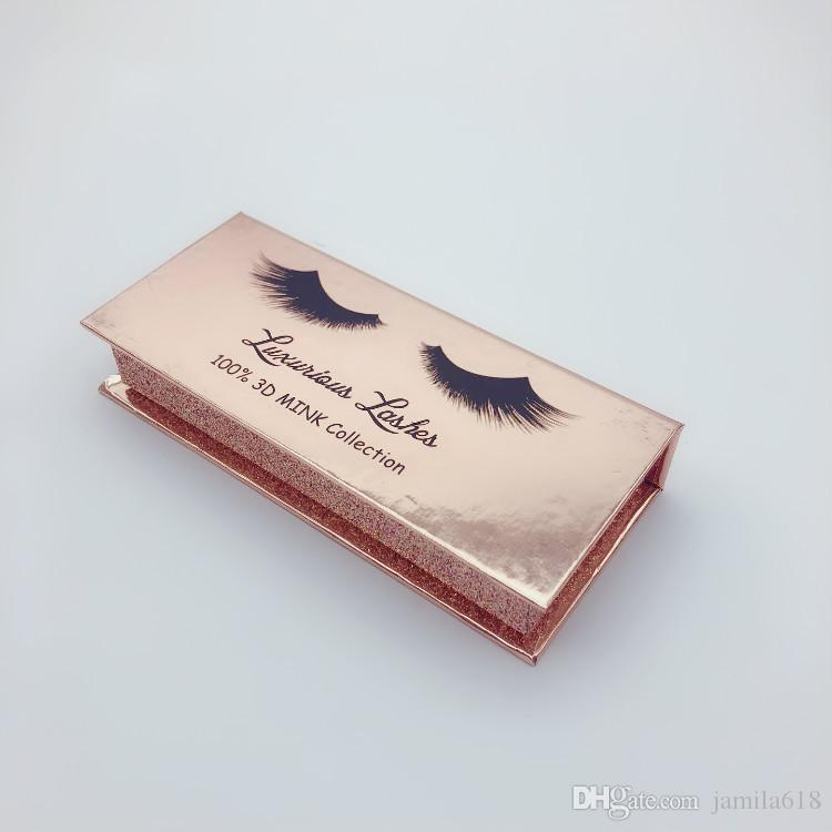 Wholesale Cosmetic Packaging Custom Magnetic False Eyelashes Packaging Box 3D Mink Lashes Box Holographic Cardboard Empty EyeLash Box Case