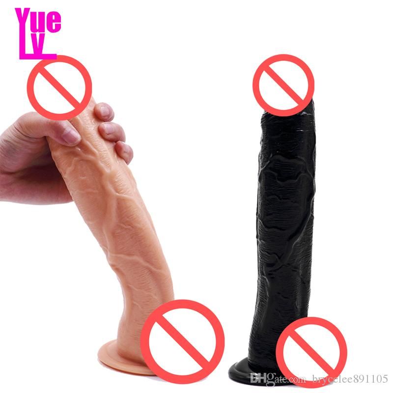 YUELV 12.2 Pulgadas Enorme Consolador Realista Gran Pene Artificial Gallo Con Ventosa Gigante Masturbación Femenina Juguetes Sexuales Para Adultos Producto Para mujeres