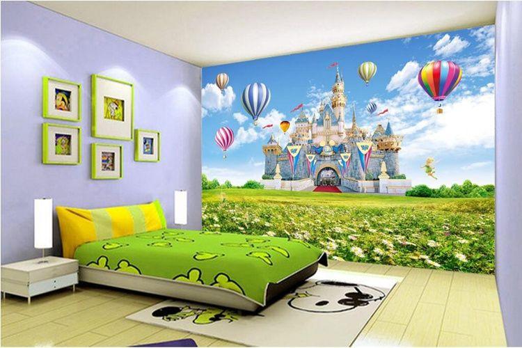 Großhandel Benutzerdefinierte 3D Fototapete Kinder Schloss HD ...