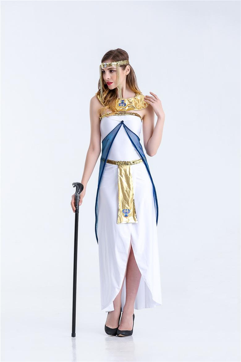 new style classical beautiful Ancient Egypt Queen Costume Classical Arab dress mysterious Halloween game uniform Party Cosplay tools