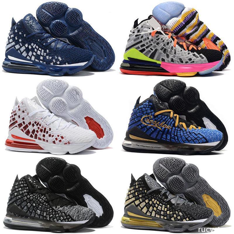LeBron 17 Zukünftige Lakers Aubergine Mens-Basketball-Schuhe Gleichheit Oreo Bred James 17 Schwarz Weiß Herren Designer Sports Turnschuh-Trainer 36-46