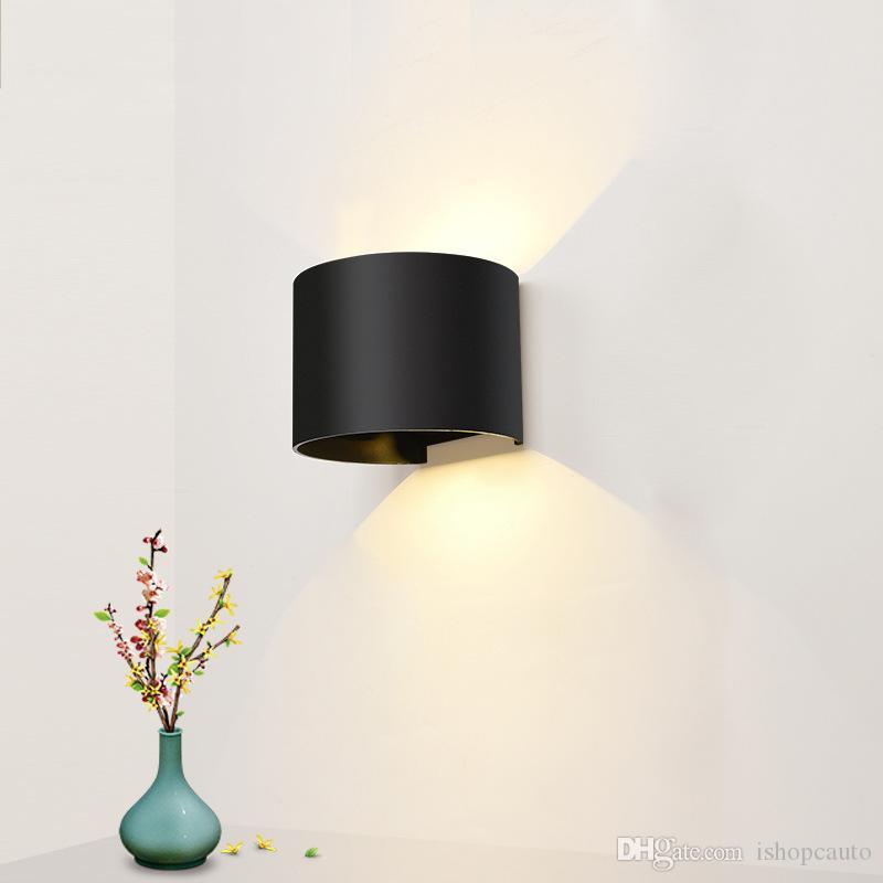 Levou lâmpada de parede exterior cabeceira impermeável quarto luz sala de estar ao ar livre corredor varanda escadas iluminação de parede pátio
