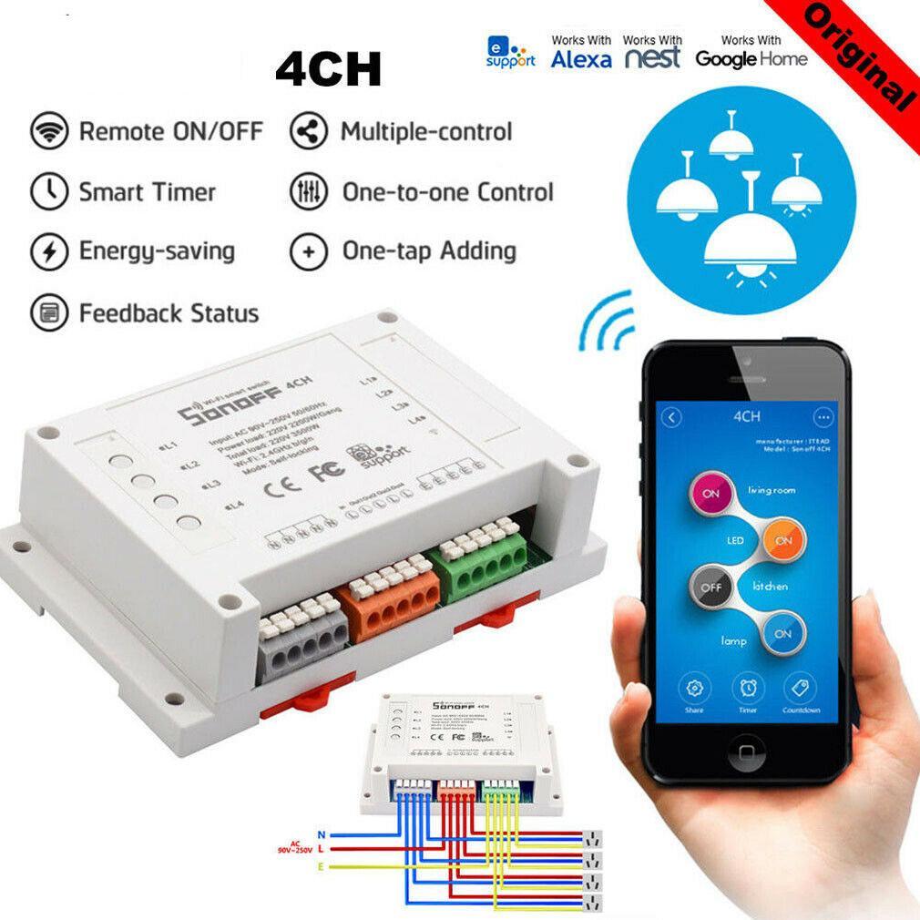 Smart Home WiFi sans fil module commutateur Modules à distance Automation Controller pour IOS Android APP Contrôle