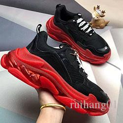 Mens Shoe Triple S 3.0 Styliste Chaussures Casual chaussures de luxe Combinaison femmes azote Semelle extérieure en cristal bas papa Casual Chaussures B293