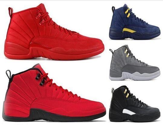 Yeni Geliş Gym Kırmızı 12 12s Basketbol ayakkabı erkekler Bulls Michigan Master Siyah Beyaz Gama Mavi Mens Eğitmen Spor Sneakers Boyut 40-47