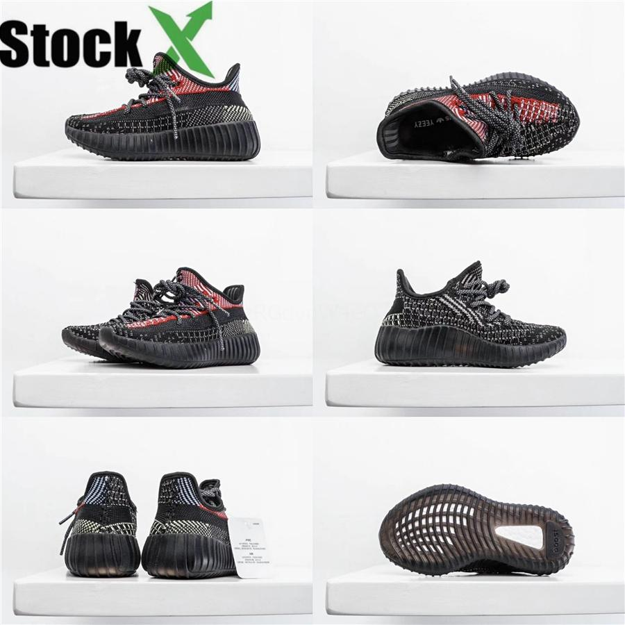 2020 bébé Kid Clay V2 Chaussures de course Kanye West Blakc statique 3M Reflective Zebra Beluga 2.0 Garçon Fille Sport Sneakers89D6 ## 137