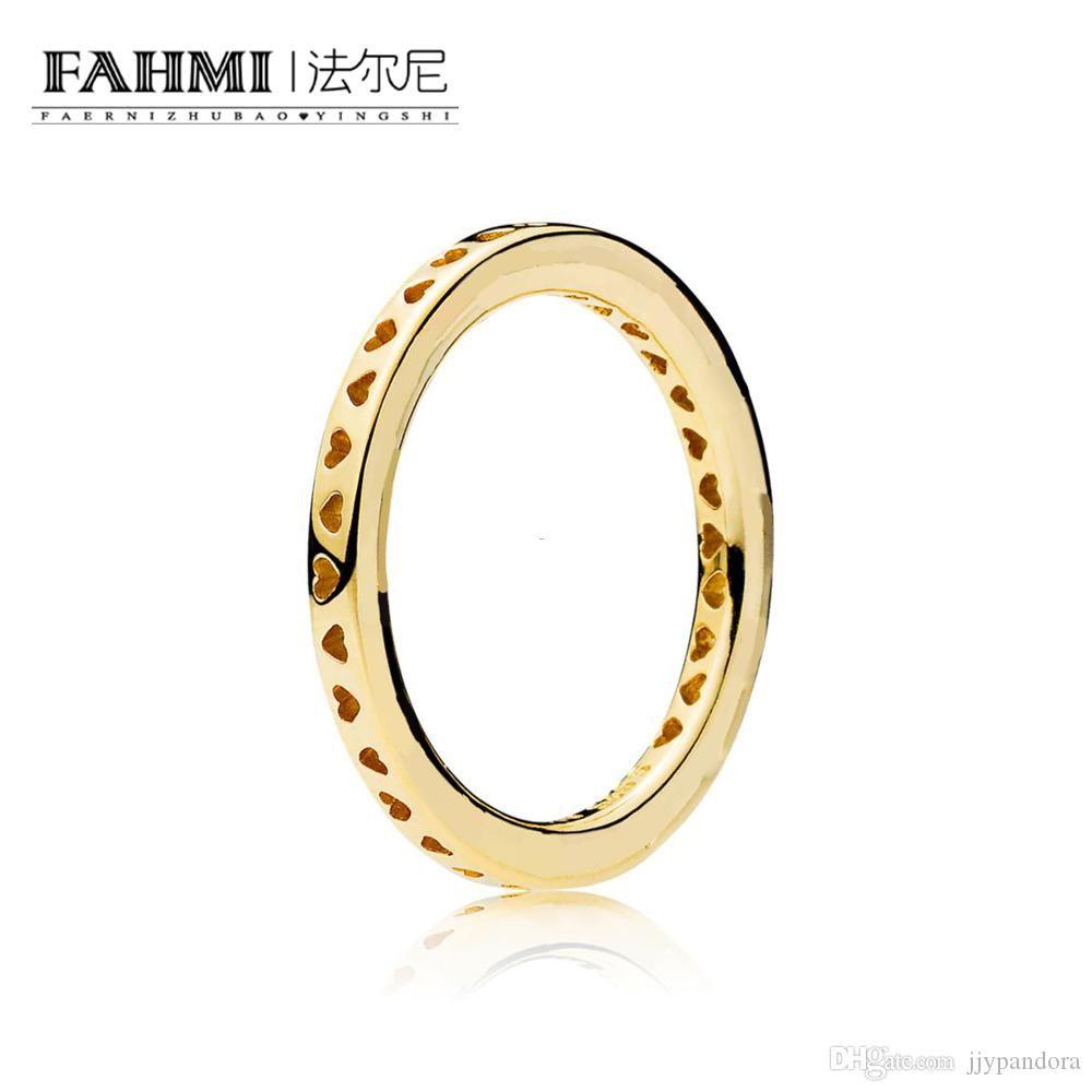 FAHMI 100% стерлингового серебра 925 пробы 1: 1 Оригинальный аутентичный Шарм 167134 темперамент мода гламур ретро кольцо свадебные женские украшения