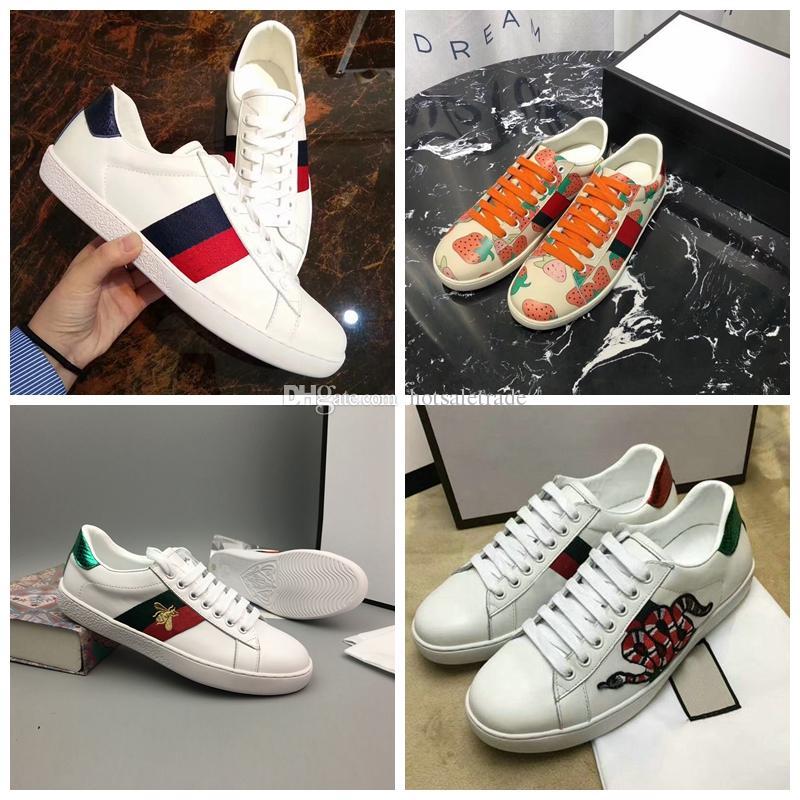 Diseñador de lujo Zapatos de abeja Hombres Mujeres Nuevo Diseñador de lujo con cordones Zapato al aire libre Moda Mujeres Zapatos de diseñador ocasionales con caja