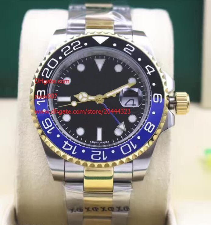 4 Couleur De luxe de haute qualité montre 40mm GMT 116710 116713 116713 116719 18 K Or Acier Asie 2813 Mouvement Mécanique Automatique Mens Montres