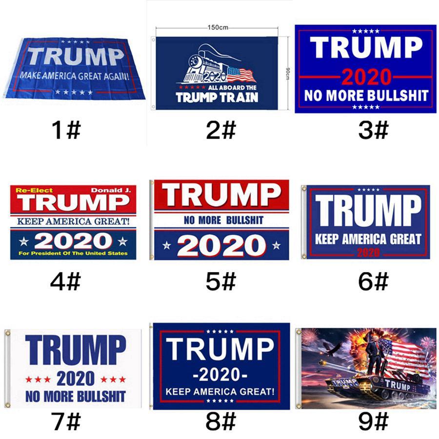 2020 ديكور راية العلم ترامب أمريكا مرة أخرى لRRA3180 رئيس الولايات المتحدة الأمريكية دونالد ترامب راية العلم الانتخابات دونالد أعلام 15styles 200PCS