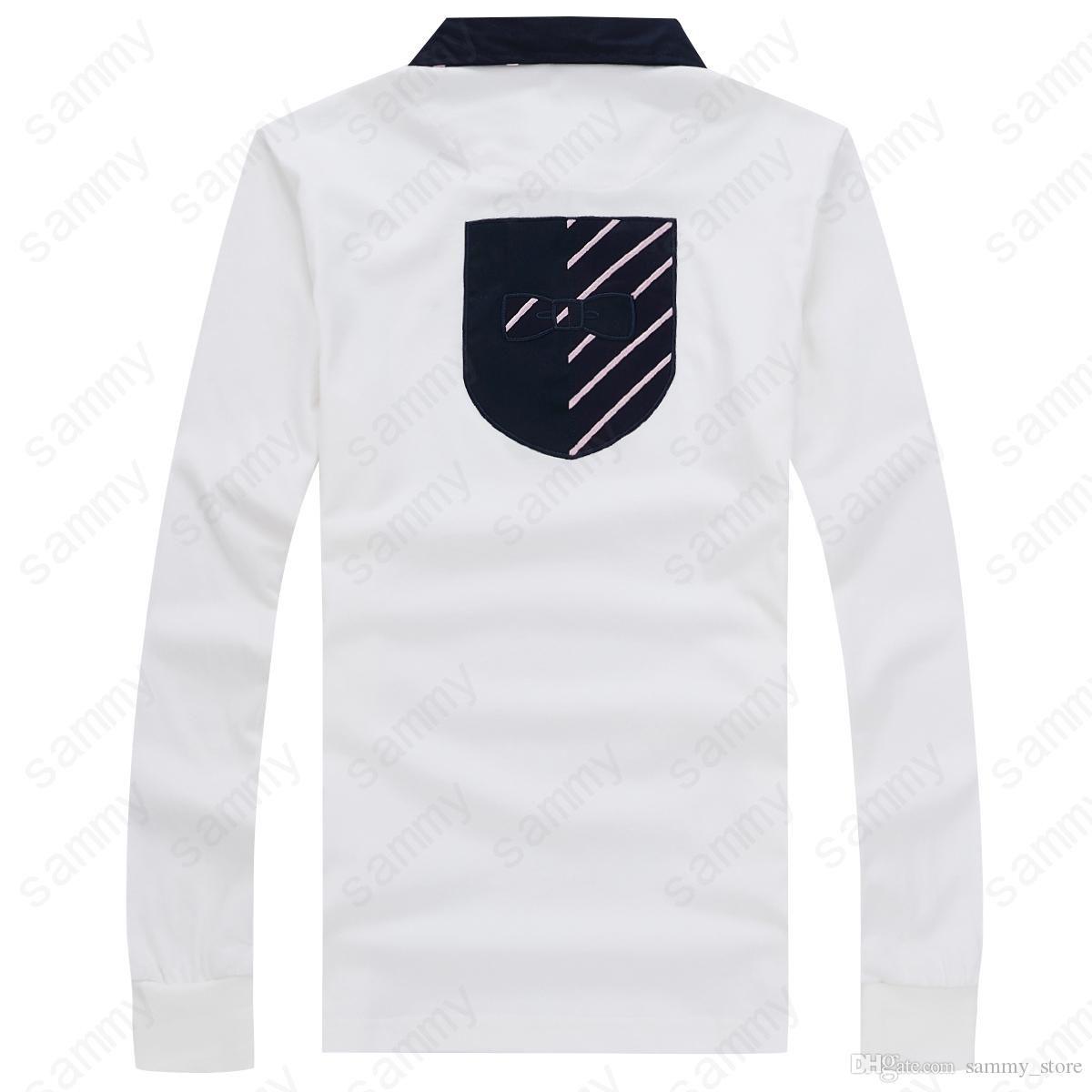 2019 Best-vente française Eden Park manches longues HOMME hommes pur coton épaissie haute qualité d'affaires Style Loisirs Trois couleurs de grande taille