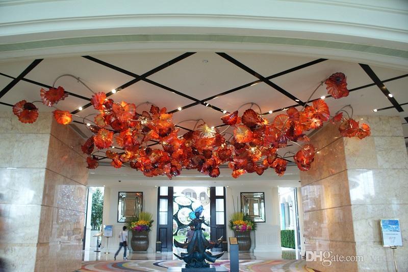 Soplado de Murano Glass Art decoración de la pared Placas de boda placas decorativas de cristal pared de la fábrica precio de la mano arte de la pared de vidrio soplado