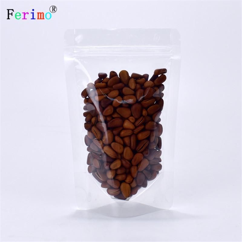 100pcs espesada 20 - gruesa bolsa de embalaje transparente bolsa de alimentos hueso autoportante bolsa de alimento compuesto alambre