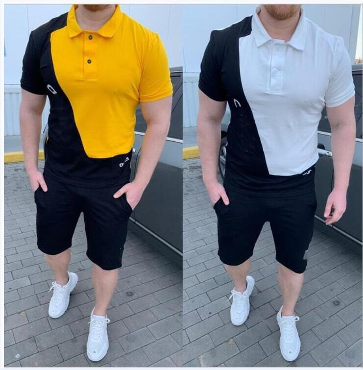 4 Colors Yellow Plus size sports suit men's plus fat increase loose spring and autumn trend fat man handsome fat guy sweater casual suit