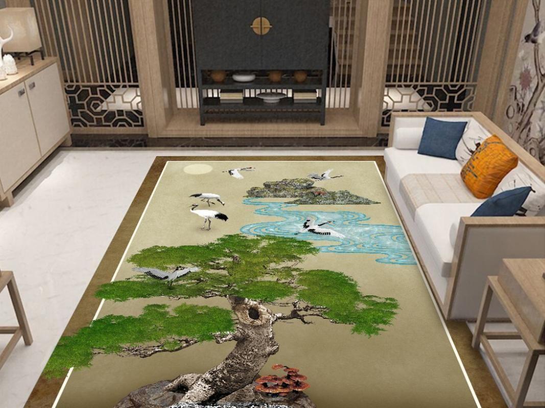 Novo design 200cm * 230cm Grande Carpet nórdicos estilo geométrico tapete / Sala de Estar Tapete Sofa Coffee Table Capacho Pads Quarto Yoga