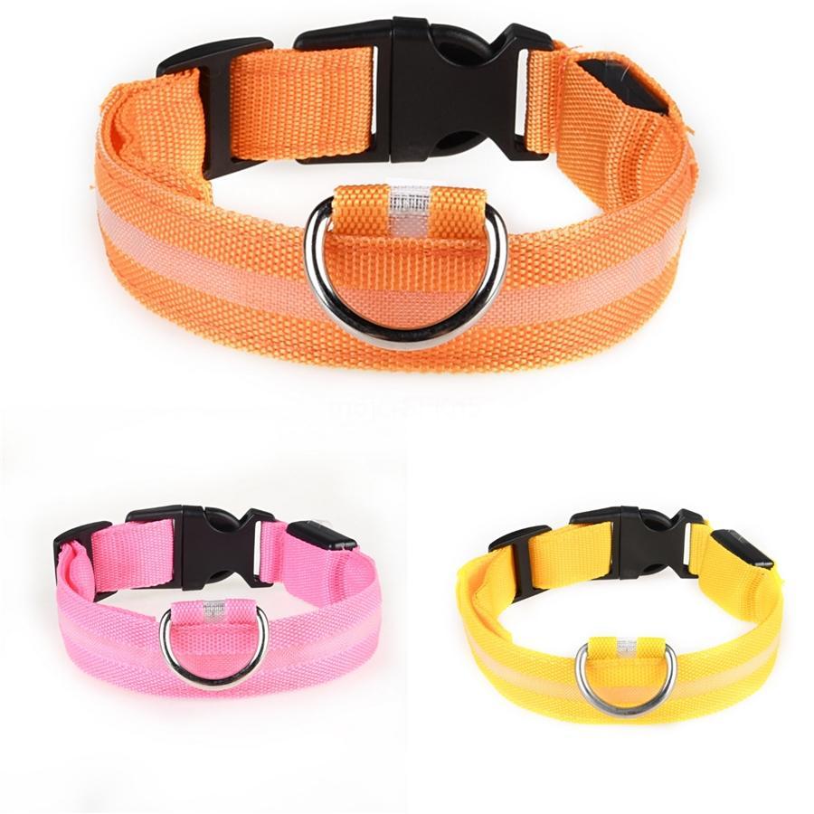 2020 Newest Hot Pet Dog Harness Outdoor Walk Vest Adjustable No-Pull Led Collar Breathable Comfort Design Led Collar Large Medium Small #122