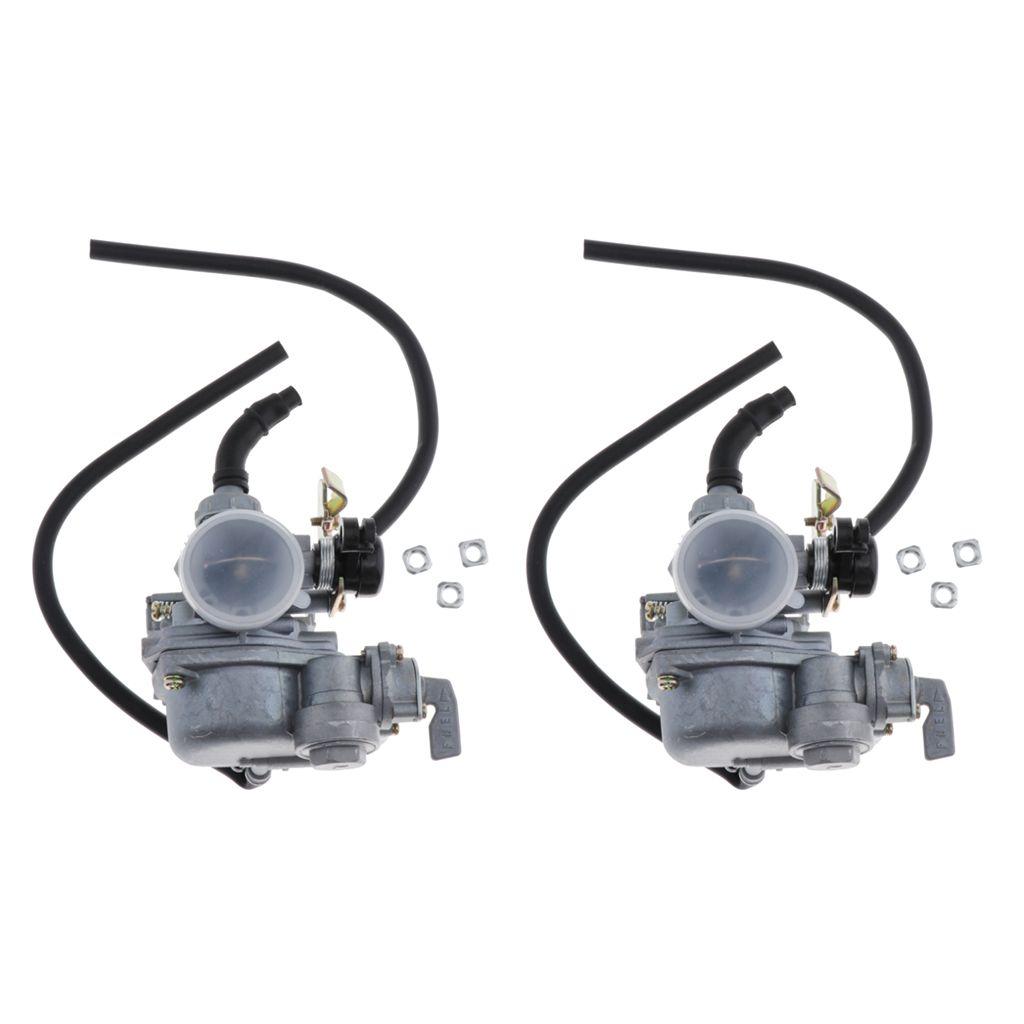 2x Aluminium 19mm Carburateur Assy Pour DY100 CD110 70-110cc VTT Scooters