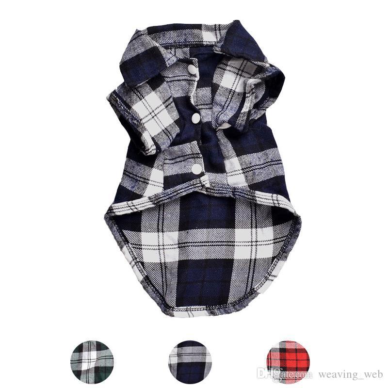 Klassische Plaid Hund Shirts für Hunde-Kleidung-Sommer-Hundeweste Small Medium Haustier-Kleidung für Hunde Haustiere Kleidung Welpen-Katze-Kleidung