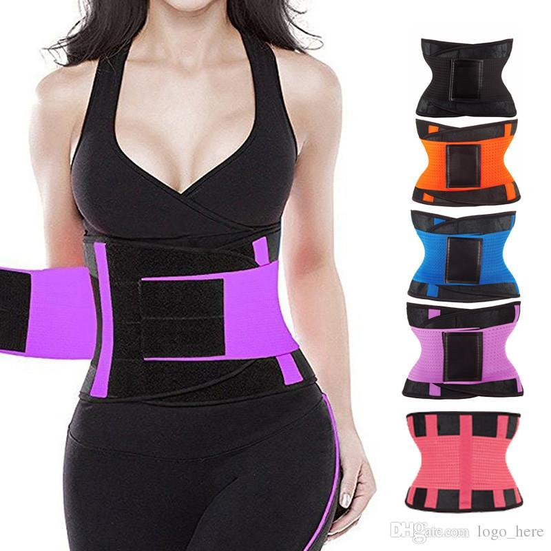 da aptidão das mulheres cintura Cincher cintura Trimmer Corset Ventile Loss ajustável Tummy Trimmer instrutor Belt Peso Slimming Belt R0038