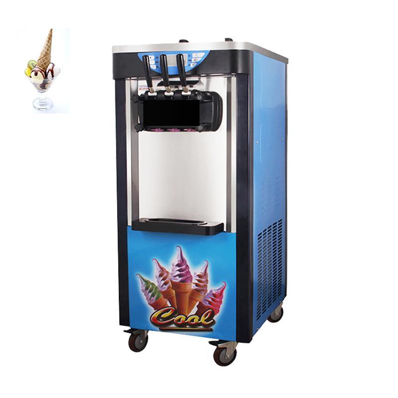 Most popular commercial vertical ice cream machine 110V / 220V stainless steel three flavor soft ice cream machine