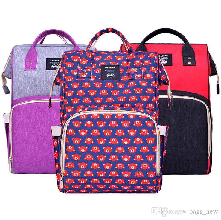 Diseñador de la marca de moda momia maternidad bolsa de pañales de gran capacidad bebé bolsa de pañales mochila de viaje bolsa de enfermería para el cuidado del bebé DHL envío gratis