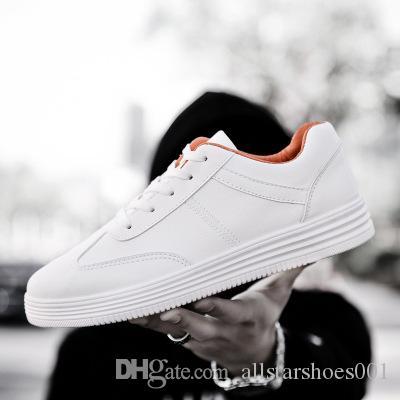 Y58 Adam Bahar Rahat Ayakkabılar Büyük Boy 39-46 Nefes Işık Adam Dantel-up yeni kadın deri ayakkabı vahşi kişilik ayakkabı Moda
