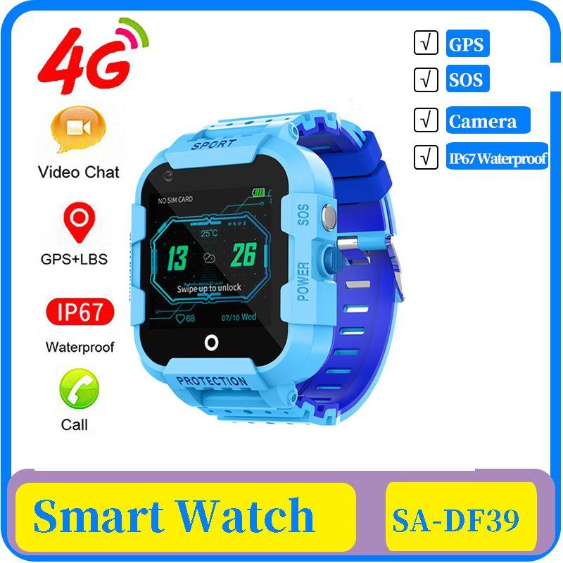 niños 4g inteligente GPS del reloj IP67 a prueba de agua llamada de vídeo de la cámara GPS WIFI LBS Ubicación 4g reloj SmartWatch niños Reloj regalo
