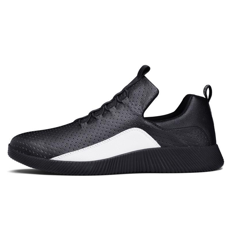 خفيفة تنفس الاحذية للرجل صدمات مضادة للانزلاق الرجال أحذية رياضية الدانتيل يصل الذكور عارضة الأحذية التنس أوم