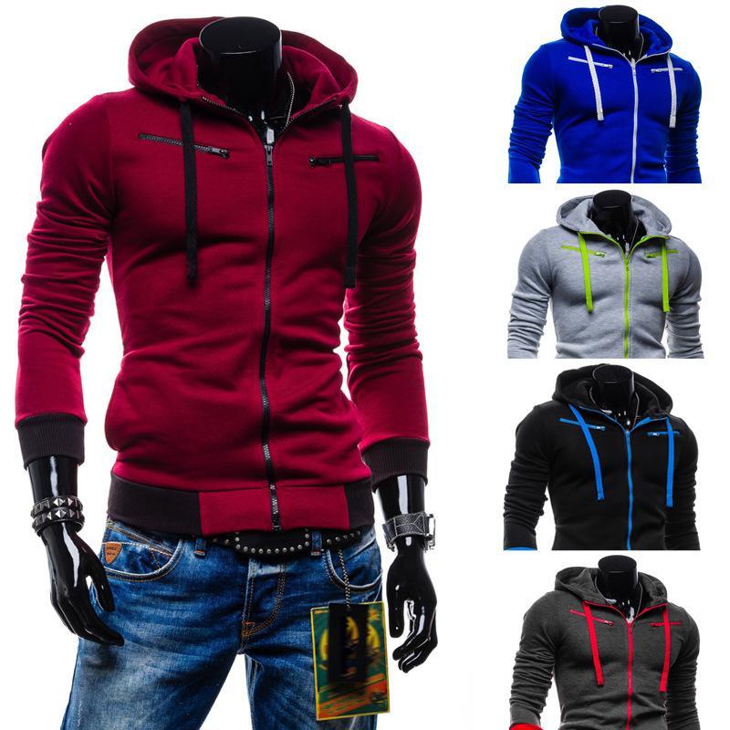 New Fashion Men Hoodies lã quente Homens com capuz Quatro Cores Hoodies Disponível para envio atacado e livre
