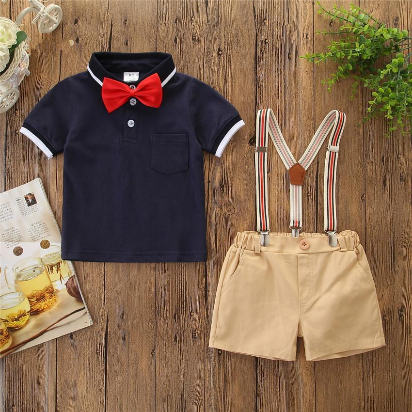 Sommer Kinder Kleidung Sets Sommer Baby Kleidung für Jungen Outfits Kleinkind Mode Kurzarm T-Shirt Shorts Kinderanzüge