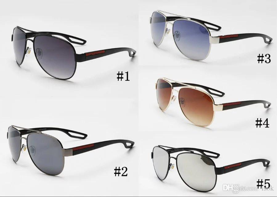 MOQ = 10pcs, 55QS 남자 브랜드 패션에 대 한 새로운 클래식 파일럿 선글라스 절묘 한 스포츠 고글 도매 여성 태양 안경 그늘 안경 착용