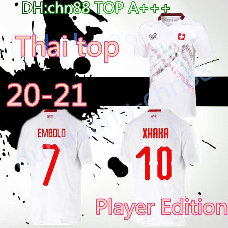Игрок издание Свисс 2020 2021 Швейцария трикотажные изделия футбола 20 21 Швейцария Akanji Закария Родригес Elvedi национальной футбольной команды рубашки