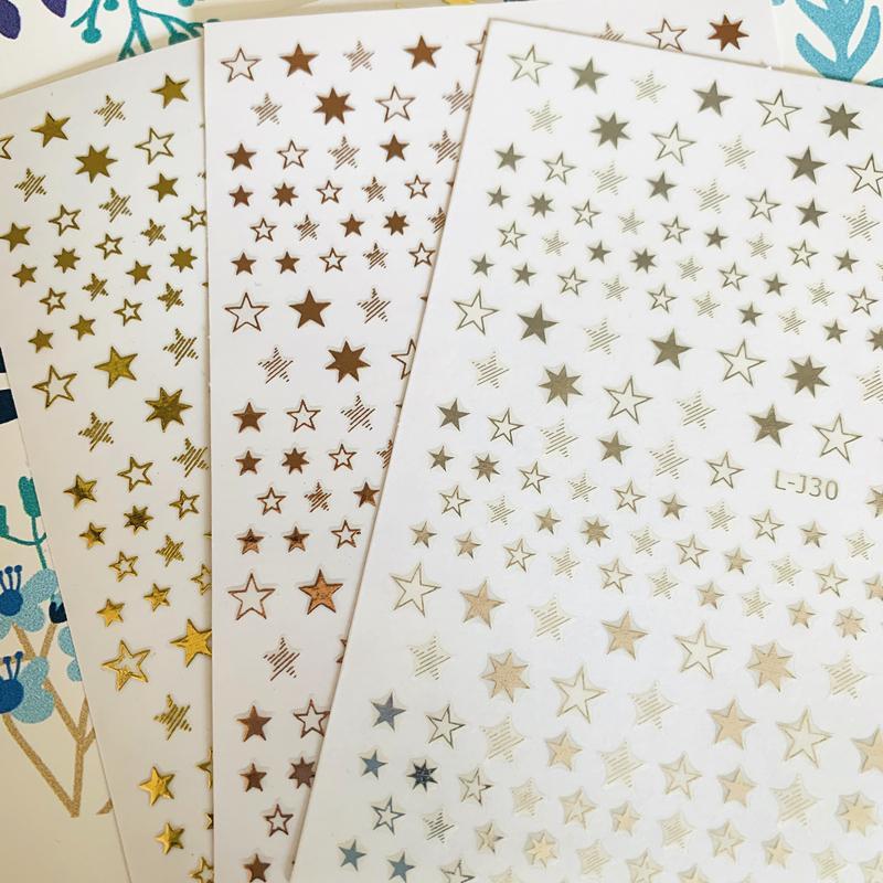 Yeni L-J30 yıldızı 3d tırnak sanat etiket tırnak çıkartma damgalama ihracat japonya Rhinestones süslemeleri tasarımlar