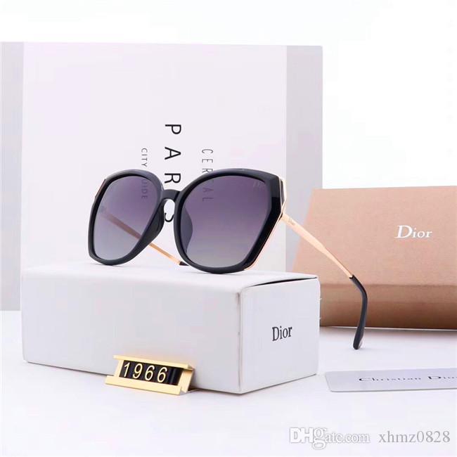 nouveau luxe haut de haute qualité des lunettes de soleil station classique hommes de créateur et les lunettes de soleil de l'objectif des femmes boîte