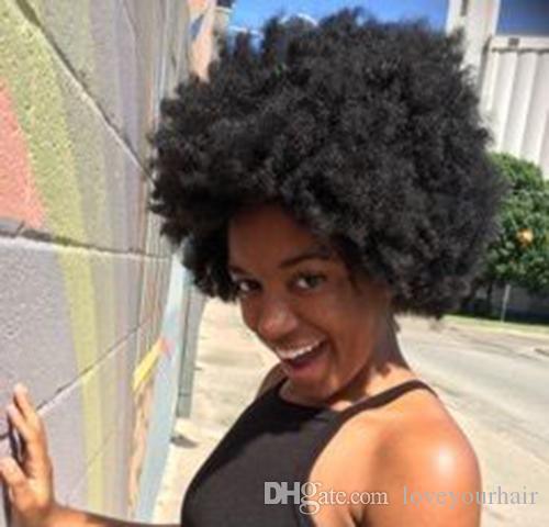 женщины красивые прическа бразильские волос Африканский Americ короткие вырезать фигурные парик кудрявый Моделирование человеческих волос короткие кудрявые натуральные парики