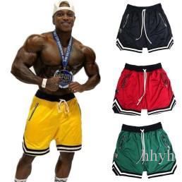 Pantalones cortos para hombre Pantalones cortos para hombre Gimnasio Pantalones cortos de musculación Correr Correr Entrenamiento Hombre Nuevo Longitud de la rodilla Verano Malla transpirable fresca
