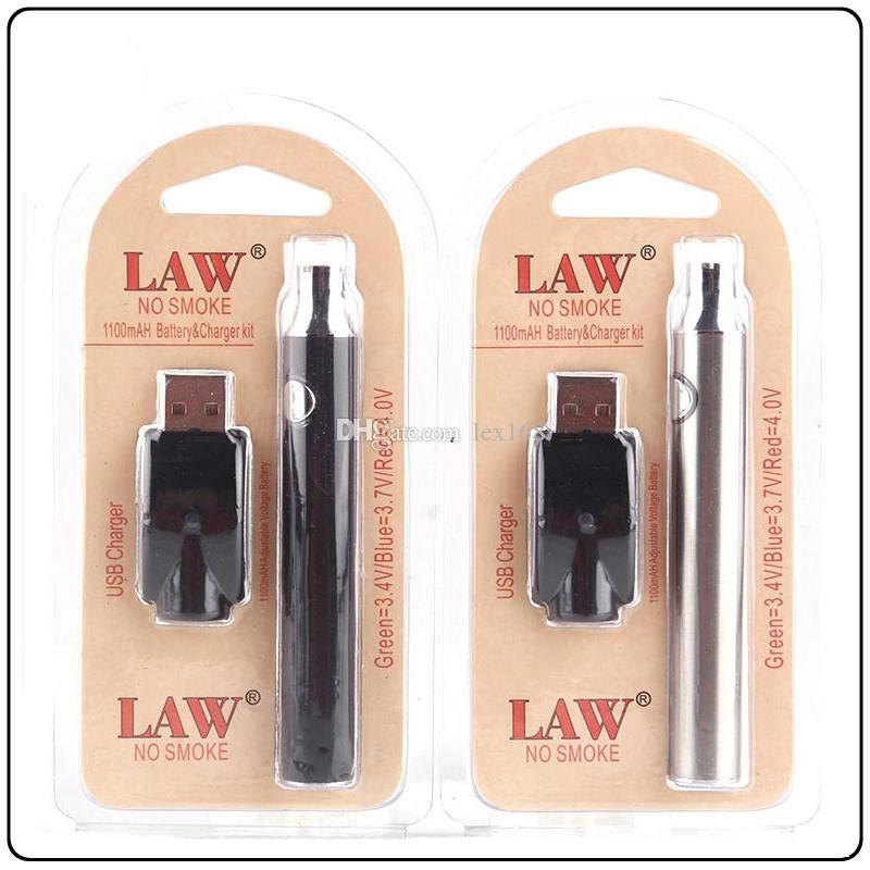 Capacidad de alta calidad Completo Derecho precalentamiento VV Vape la batería con el cargador USB de voltaje variable de precalentamiento 510 Tema Vape Kits Blister Pen