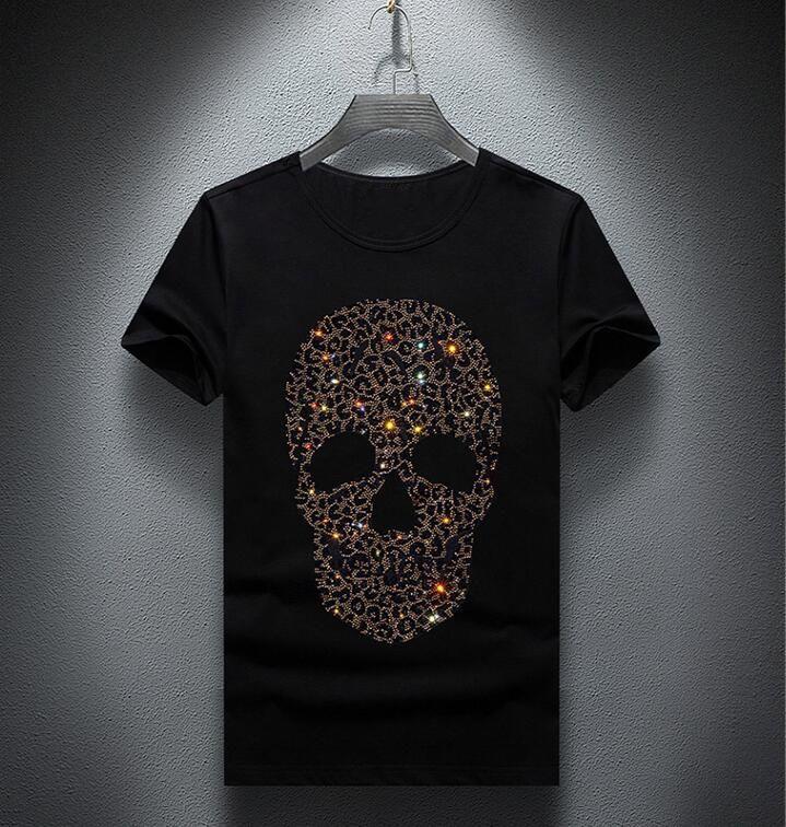 Оптовая мужчины роскошные Алмаз дизайн футболки мода футболки мужчины смешные футболки топы и тройники 04