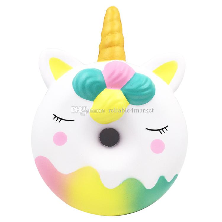Remarkable Hot Giant Unicorn Donut 32Cm Squeeze Toy Cute Soft Slowly Rising Children Stress Relief Birthday Gift Kawaii Fun Gift Office Stress Relief Toys Stress Creativecarmelina Interior Chair Design Creativecarmelinacom