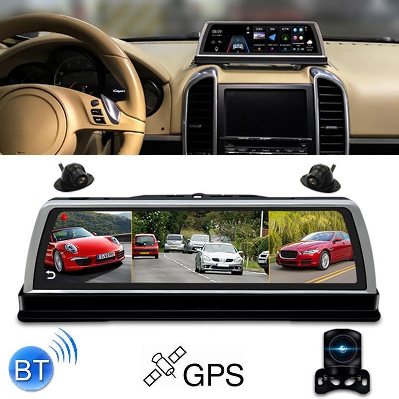 Detecção K600 360 graus de 10 polegadas 1080p Multi-funcional Smart Car ADAS Dual Lens Video Record Camera apoio TF cartão / Movimento