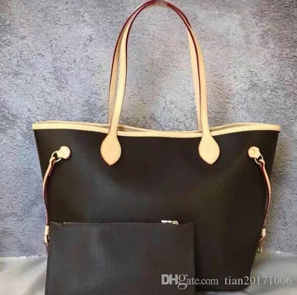 Nuevo bolso clásico de las mujeres de las mujeres del diseñador de las señoras bolsa de composición de la lady embrague bolsa de hombro tote femenino monedero billetera 2pcs / set High Qulity Envío gratis