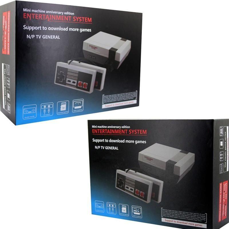 Mini AV Spielkonsole kann 30 Spielkonsole Videohandheld für NES-Spiele-Konsolen Unterstützungs-TF-Card Download Spiel mit Kleinkasten