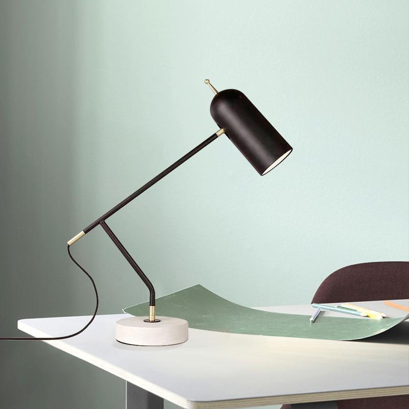 Compre Moderno Metal Marble Desk Lamp Led Estudo Trabalho Sala Quarto Mesa De Luz Aparelho De Iluminação Ta113 De James19198 1 081 43 Pt Dhgate Com
