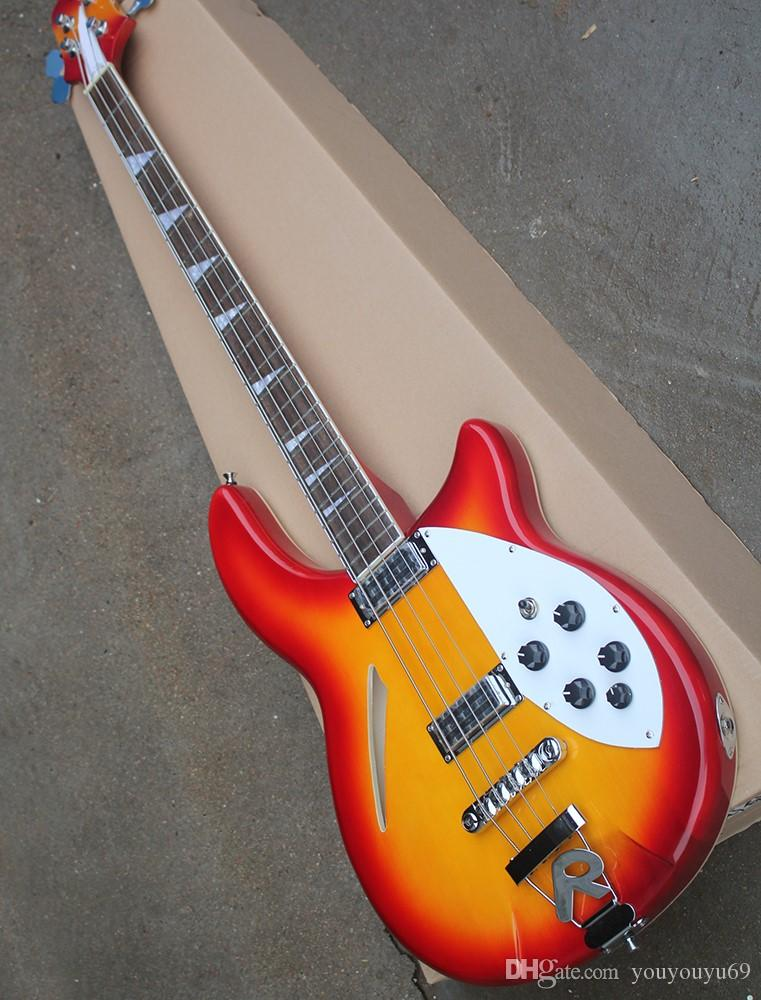 Guitarra baixa de 4 cordas com captador branco, hardware cromado, captador R, serviço personalizado