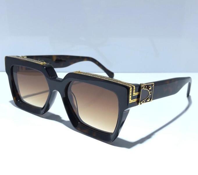 أزياء العلامة التجارية مع صندوق مصمم النظارات الشمسية الرجال الفاخرة قصر هلالية دي سولي OCCHIALI دا شركة صيف الوحيدة في الهواء الطلق خمر نمط هدية عاشق