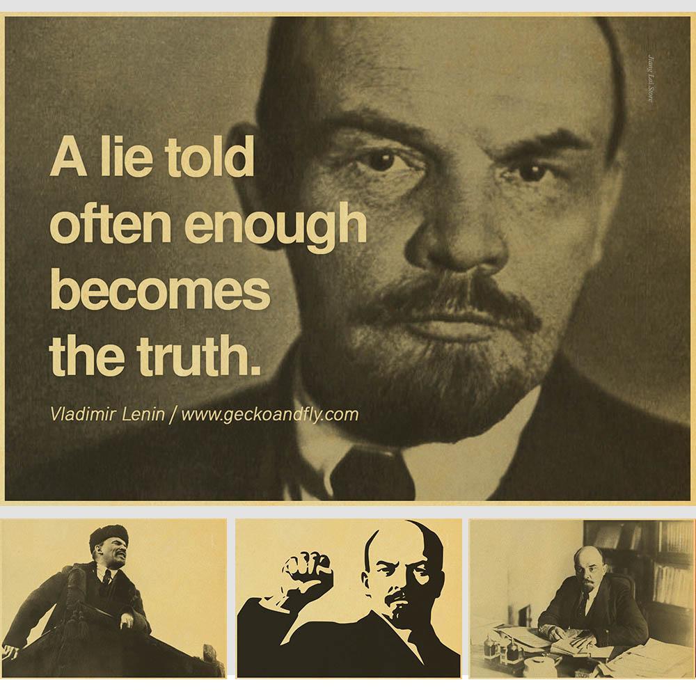 Пролетарский революционер Ленин старинные бумаги плакат настенная живопись украшения дома 42X30 см 30X21 см
