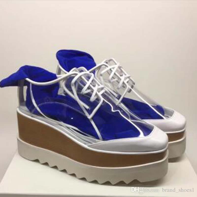 Top Quality calçados casuais de couro genuíno Grosso fundo Sneaker Mulheres Moda couro branco Plataforma Shoes Flat Shoes Casual sneakersg1 robusto
