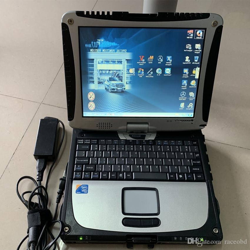 MB Star C4 진단 도구 HDD가 CF19 노트북 소프트웨어에 설치된 DAS Xentry EPC WIS 최신 버전 사용할 준비가되었습니다.