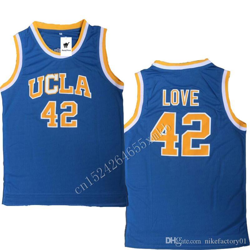 최고 품질 Bruins College 농구 저지 42 Kevin Love Shirt 0 Russell Westbrook 32 Bill Walton 2 Lonzo Ball shirts 무료 배송